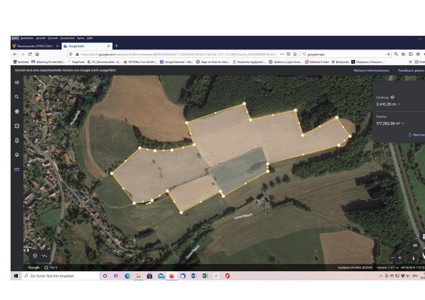Luftaufnahme aus Google Earth